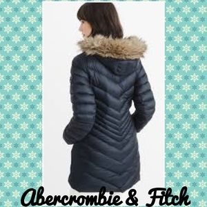 Abercrombie & Fitch Navy Parka Down Size M